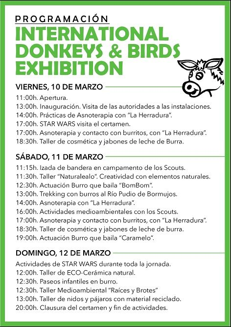 BORMUJOS  I FESTIVAL DONKEYS & BIRDS.  Participa ADTA con un stand
