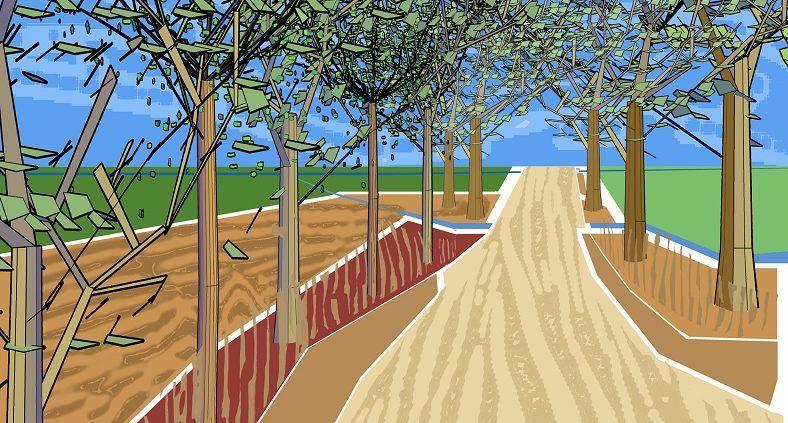 """Proyecto """"Bajo la absolución de los árboles"""", el Aljarafe por el Clima  Plantación masiva de árboles en el Camino del Molino Colorao en Bormujos"""