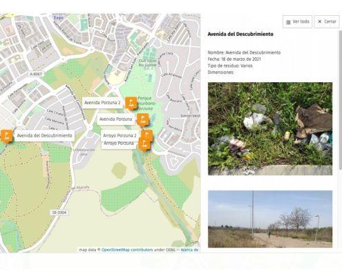 Residuos urbanos - Colaboración con el Ateneo de Mairena - mapa interactivo -